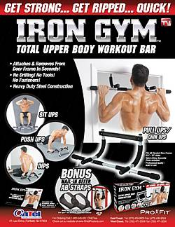 Can Use Iron Gym Pull Up Bar P90x