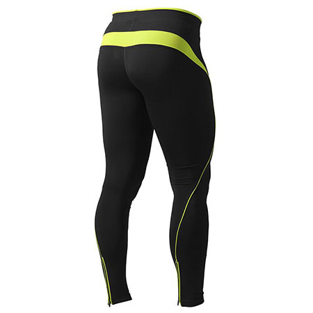 BetterBodies Fitness Long Tights - Black/Lime Detail 2