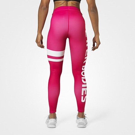 BetterBodies Varsity Stripe Tights - Hot Pink Detail 3