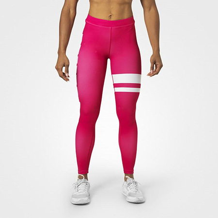 BetterBodies Varsity Stripe Tights - Hot Pink Detail 2