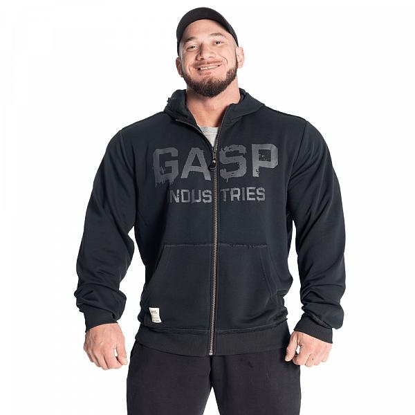 GASP Layered Hood - Washed Black Detail 1